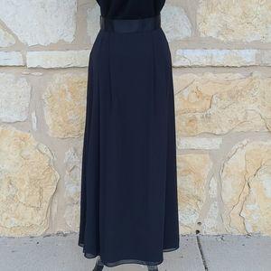 Evan Pione Vintage Black Flowy Skirt